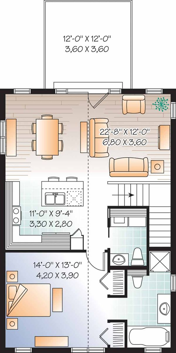 Country Floor Plan - Main Floor Plan Plan #23-2461