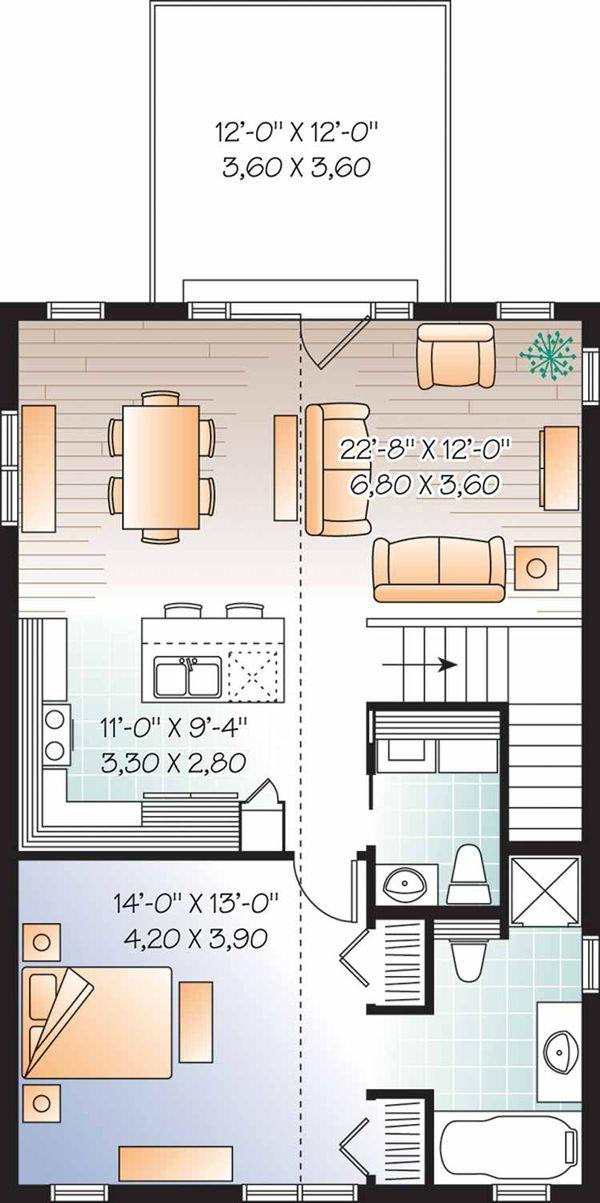 Country Floor Plan - Main Floor Plan Plan #23-2461