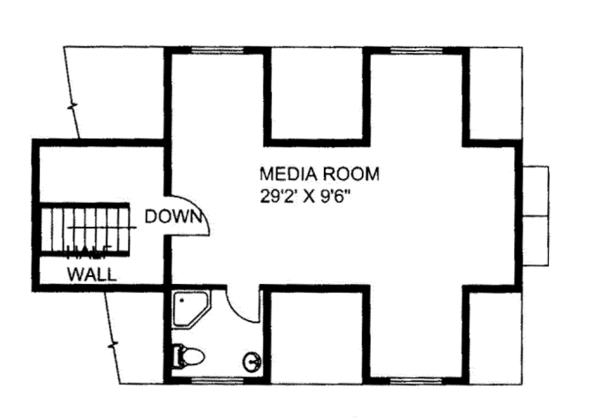 Ranch Floor Plan - Other Floor Plan Plan #117-850