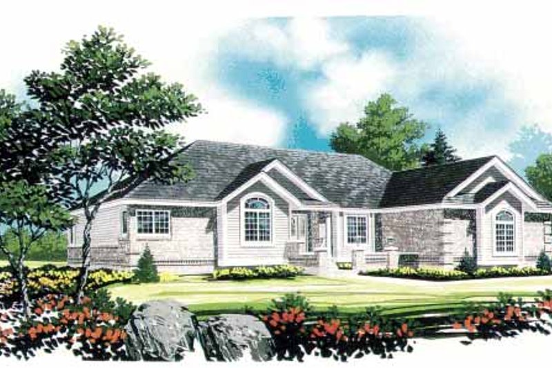 European Exterior - Front Elevation Plan #308-287