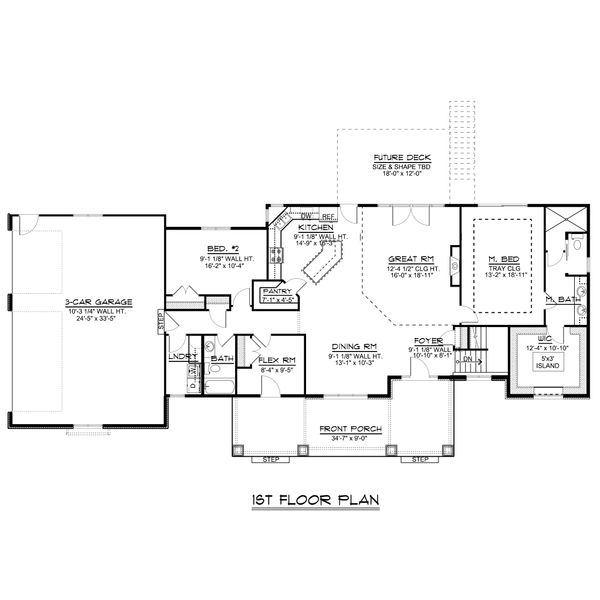 Dream House Plan - Craftsman Floor Plan - Main Floor Plan #1064-48