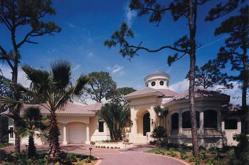 Architectural House Design - Mediterranean Exterior - Front Elevation Plan #930-256
