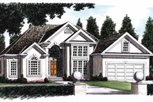 House Plan Design - Mediterranean Exterior - Front Elevation Plan #927-63