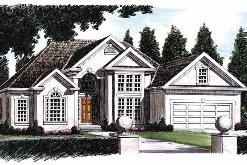House Plan Design - Mediterranean Exterior - Front Elevation Plan #927-63