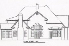 Dream House Plan - Traditional Exterior - Rear Elevation Plan #54-130