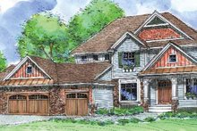 Craftsman Exterior - Front Elevation Plan #320-1006