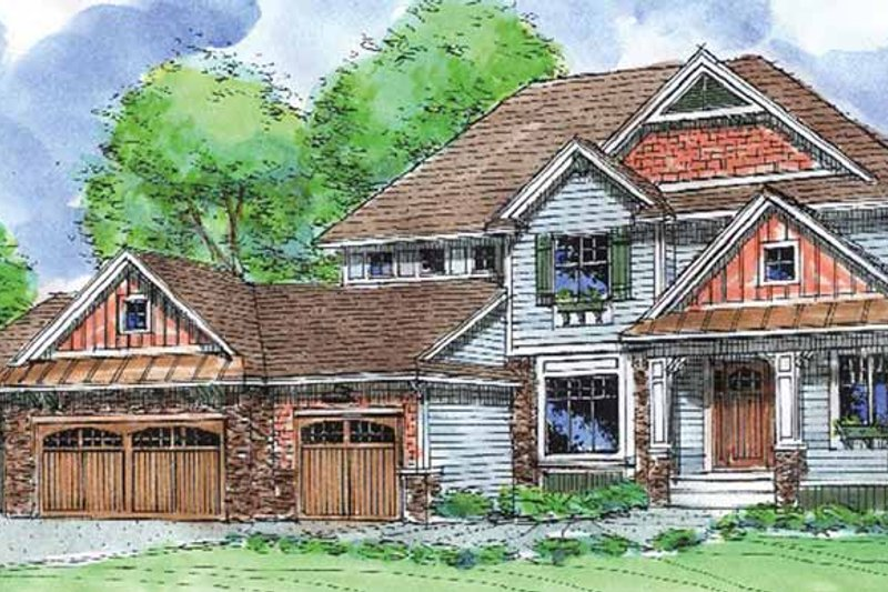 Craftsman Exterior - Front Elevation Plan #320-1006