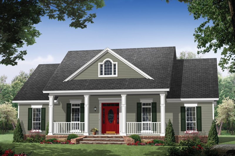 Dream House Plan - Colonial Exterior - Front Elevation Plan #21-431