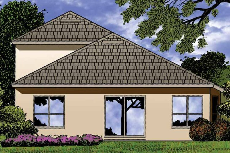 Contemporary Exterior - Rear Elevation Plan #1015-43 - Houseplans.com