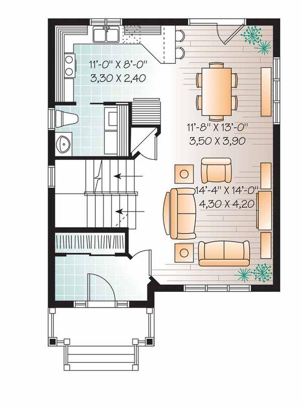 Country Floor Plan - Main Floor Plan Plan #23-2552