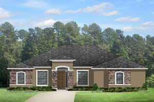 Home Plan Design - Mediterranean Exterior - Front Elevation Plan #1058-125
