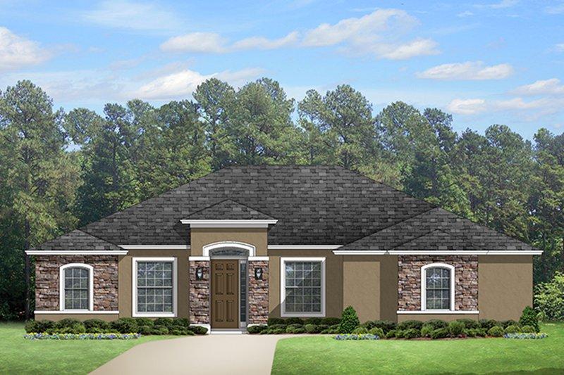 Dream House Plan - Mediterranean Exterior - Front Elevation Plan #1058-125
