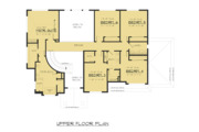 Traditional Style House Plan - 6 Beds 4 Baths 3620 Sq/Ft Plan #1066-70 Floor Plan - Upper Floor Plan