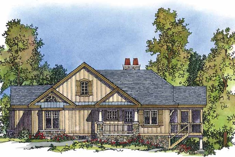 Country Exterior - Front Elevation Plan #1016-73