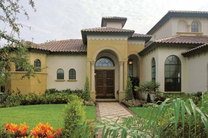 Mediterranean Exterior - Front Elevation Plan #417-527 - Houseplans.com