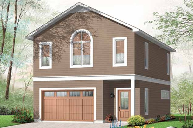 Country Exterior - Front Elevation Plan #23-2461