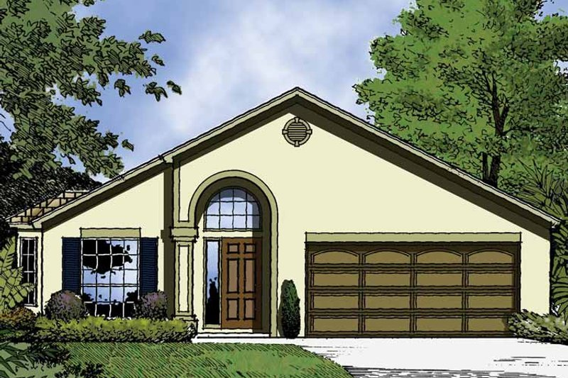 Country Exterior - Front Elevation Plan #1015-38 - Houseplans.com