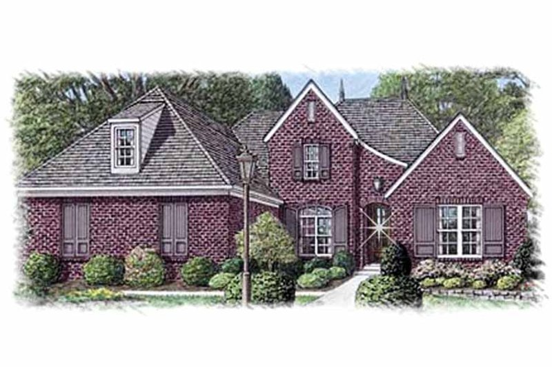 Country Exterior - Front Elevation Plan #15-387 - Houseplans.com