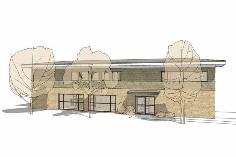 Contemporary Exterior - Other Elevation Plan #64-311 - Houseplans.com