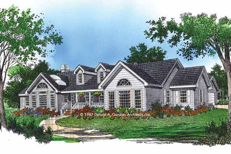 Architectural House Design - Country Exterior - Front Elevation Plan #929-61