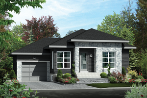 Contemporary Exterior - Front Elevation Plan #25-4275