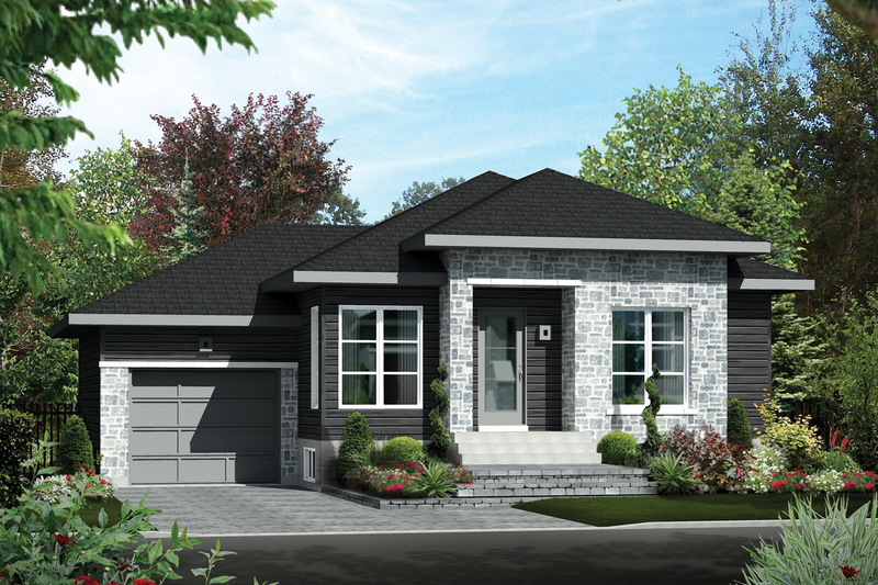 Contemporary Style House Plan - 2 Beds 1 Baths 920 Sq/Ft Plan #25-4275 Exterior - Front Elevation