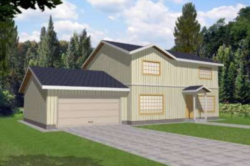 Traditional Exterior - Front Elevation Plan #117-436 - Houseplans.com