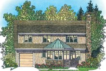 House Plan Design - Craftsman Exterior - Rear Elevation Plan #1016-107