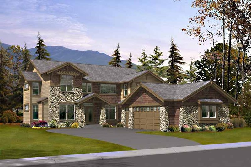 Craftsman Exterior - Front Elevation Plan #132-442