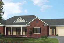 Ranch Exterior - Front Elevation Plan #1002-14