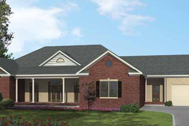 Ranch Exterior - Front Elevation Plan #1002-14 - Houseplans.com