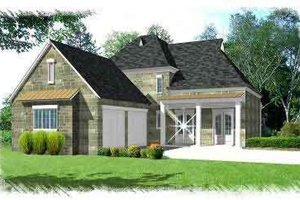 European Exterior - Front Elevation Plan #15-279
