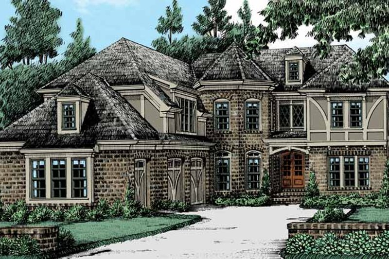 Home Plan - Tudor Exterior - Front Elevation Plan #927-423