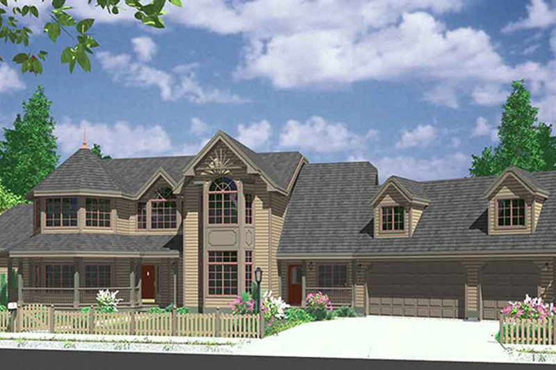 Country Exterior - Front Elevation Plan #303-472 - Houseplans.com