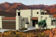 Adobe / Southwestern Style House Plan - 3 Beds 3 Baths 1583 Sq/Ft Plan #116-217