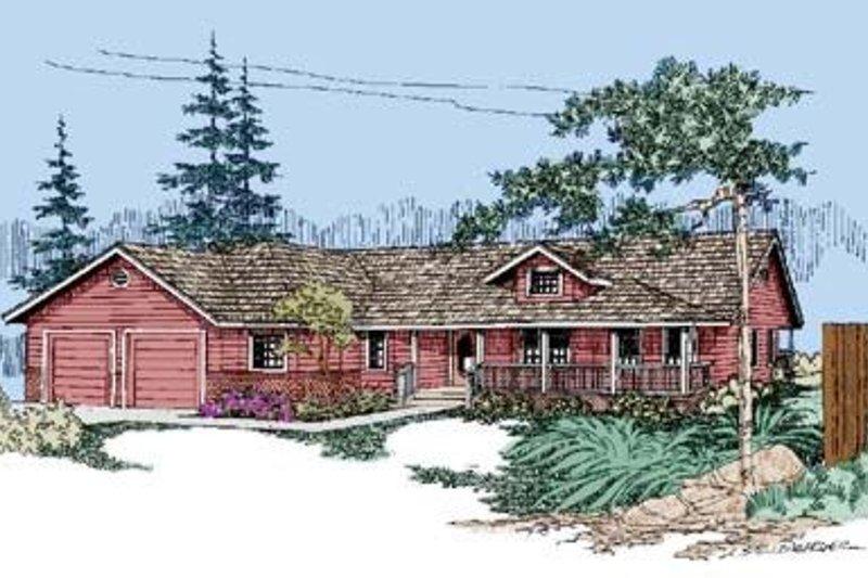 Ranch Exterior - Front Elevation Plan #60-258 - Houseplans.com