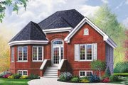 European Style House Plan - 1 Beds 1 Baths 940 Sq/Ft Plan #23-194 Exterior - Front Elevation