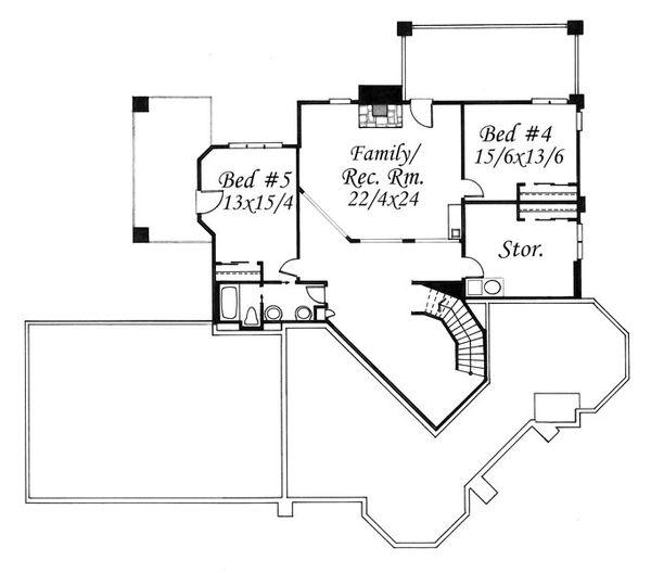 European Floor Plan - Lower Floor Plan Plan #509-47