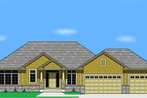 Dream House Plan - Prairie Exterior - Front Elevation Plan #981-13