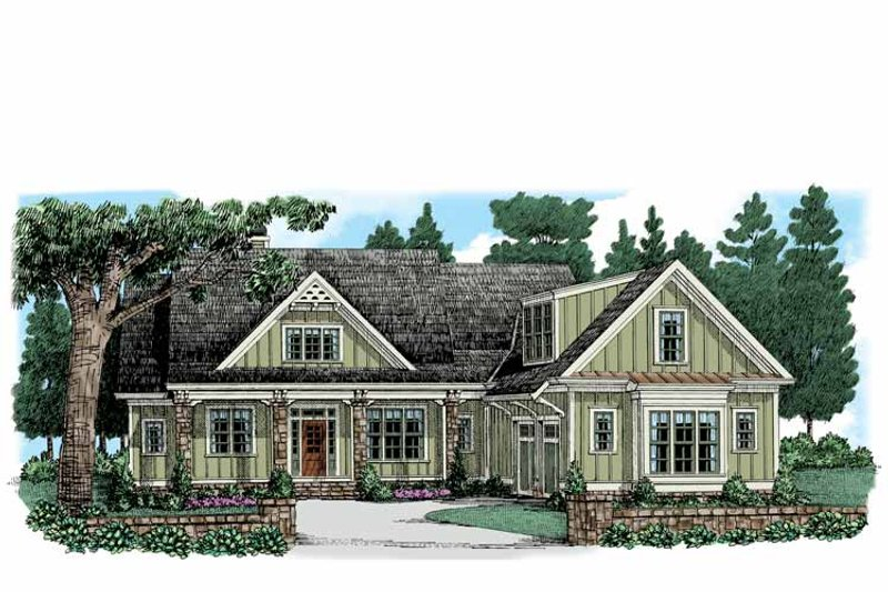 Colonial Exterior - Front Elevation Plan #927-945 - Houseplans.com