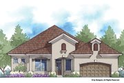 Mediterranean Style House Plan - 4 Beds 3 Baths 2150 Sq/Ft Plan #938-81 Exterior - Front Elevation