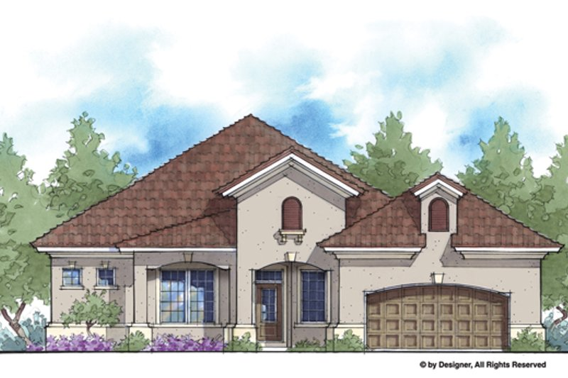 Home Plan - Mediterranean Exterior - Front Elevation Plan #938-81