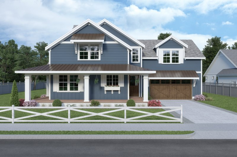 Home Plan - Contemporary Exterior - Front Elevation Plan #1070-83