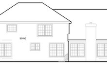 House Plan Design - Colonial Exterior - Rear Elevation Plan #1053-48