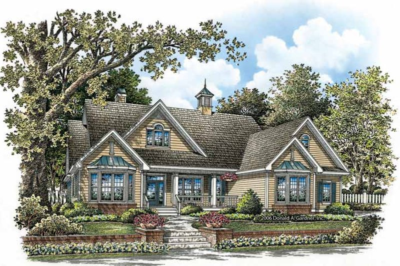 Ranch Exterior - Front Elevation Plan #929-858 - Houseplans.com