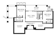 Craftsman Floor Plan - Lower Floor Plan Plan #929-945