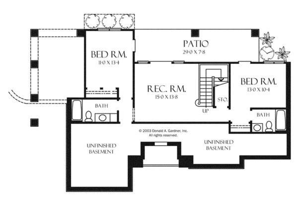 House Plan Design - Craftsman Floor Plan - Lower Floor Plan #929-945