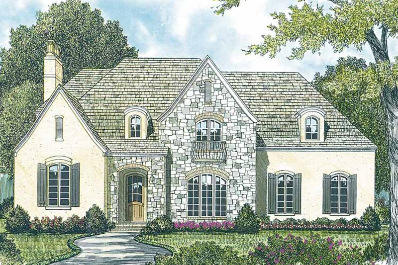 Country Exterior - Front Elevation Plan #453-423