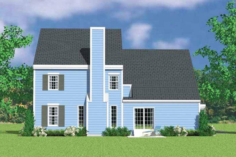 House Blueprint - Colonial Exterior - Rear Elevation Plan #72-1122