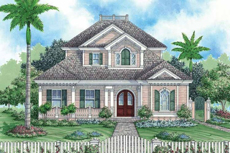 Country Exterior - Front Elevation Plan #1017-17 - Houseplans.com